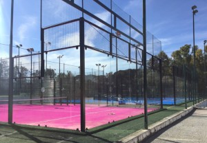 Campo Panoramico con tappeto Rosa, Pink Padel Club, Roma