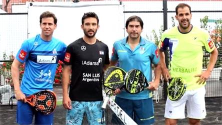 Giocatori degli internazionali di Paddle 2016 di Roma: (da sin.) Paquito Navarro, Sanyo Gutiérrez, Cristián Gutiérrez, Juan Martin Diaz.