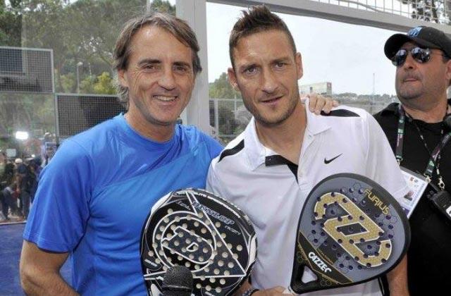Totti e Mancini - due grandi appassionati di Padel.