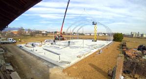 Costruzione campo da padel coperto (2020) - Santo Stefano SPA Relais Sandigliano (Biella)