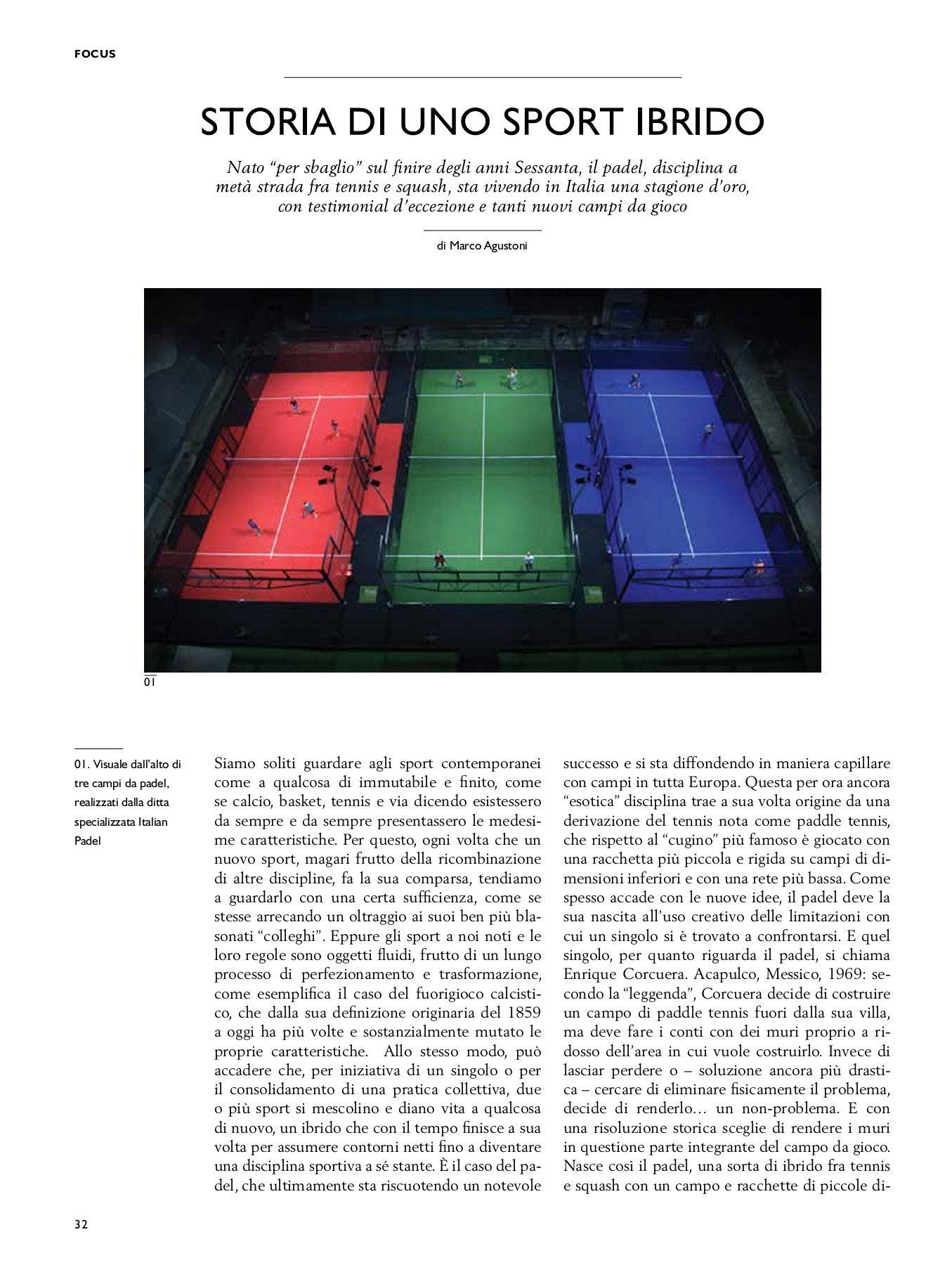 Storia di uno sport ibrido (Club Milano, Febbraio 2019)