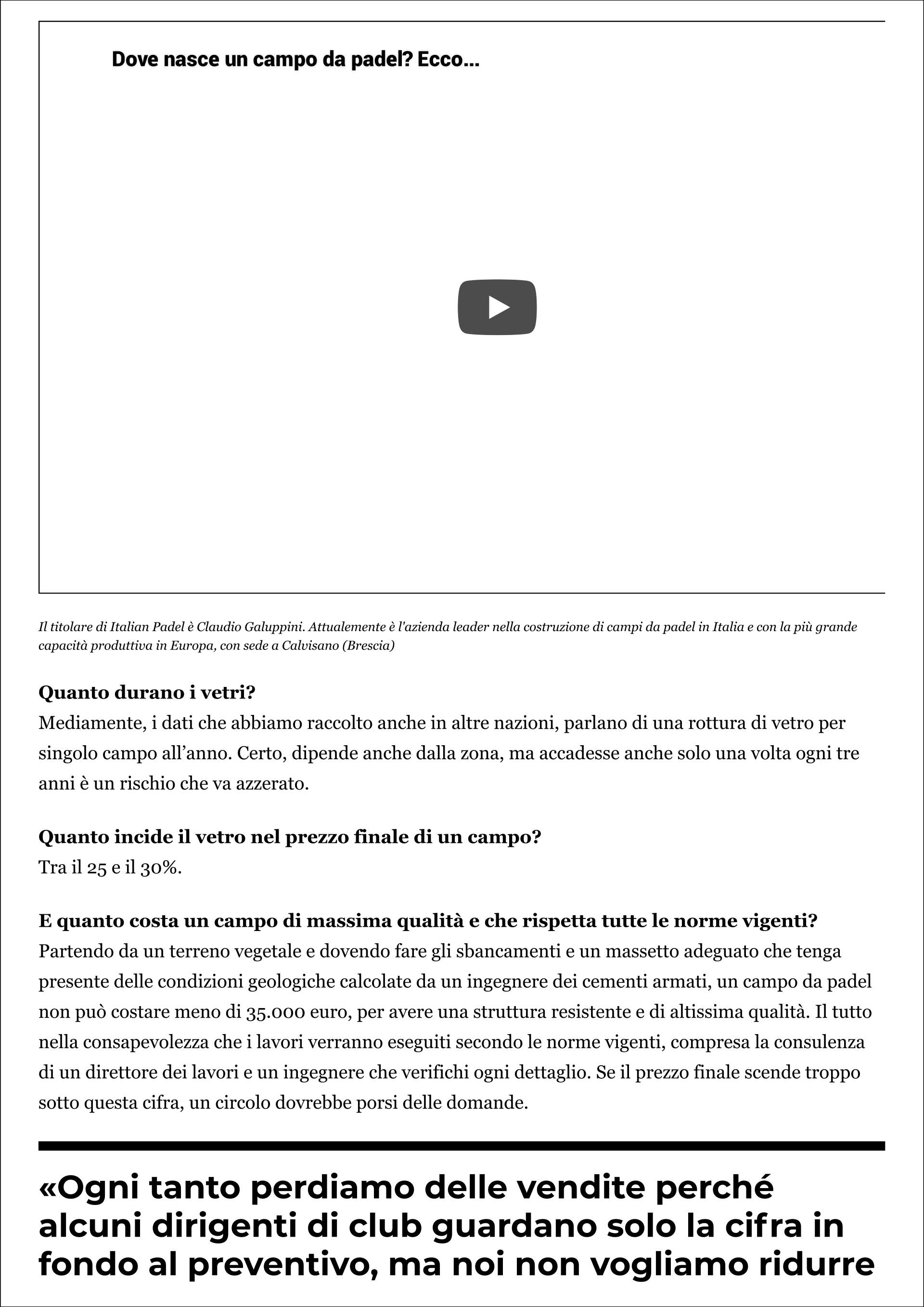 The Leader: Italian Padel (Padel Magazine - 5 novembre 2019) - 3
