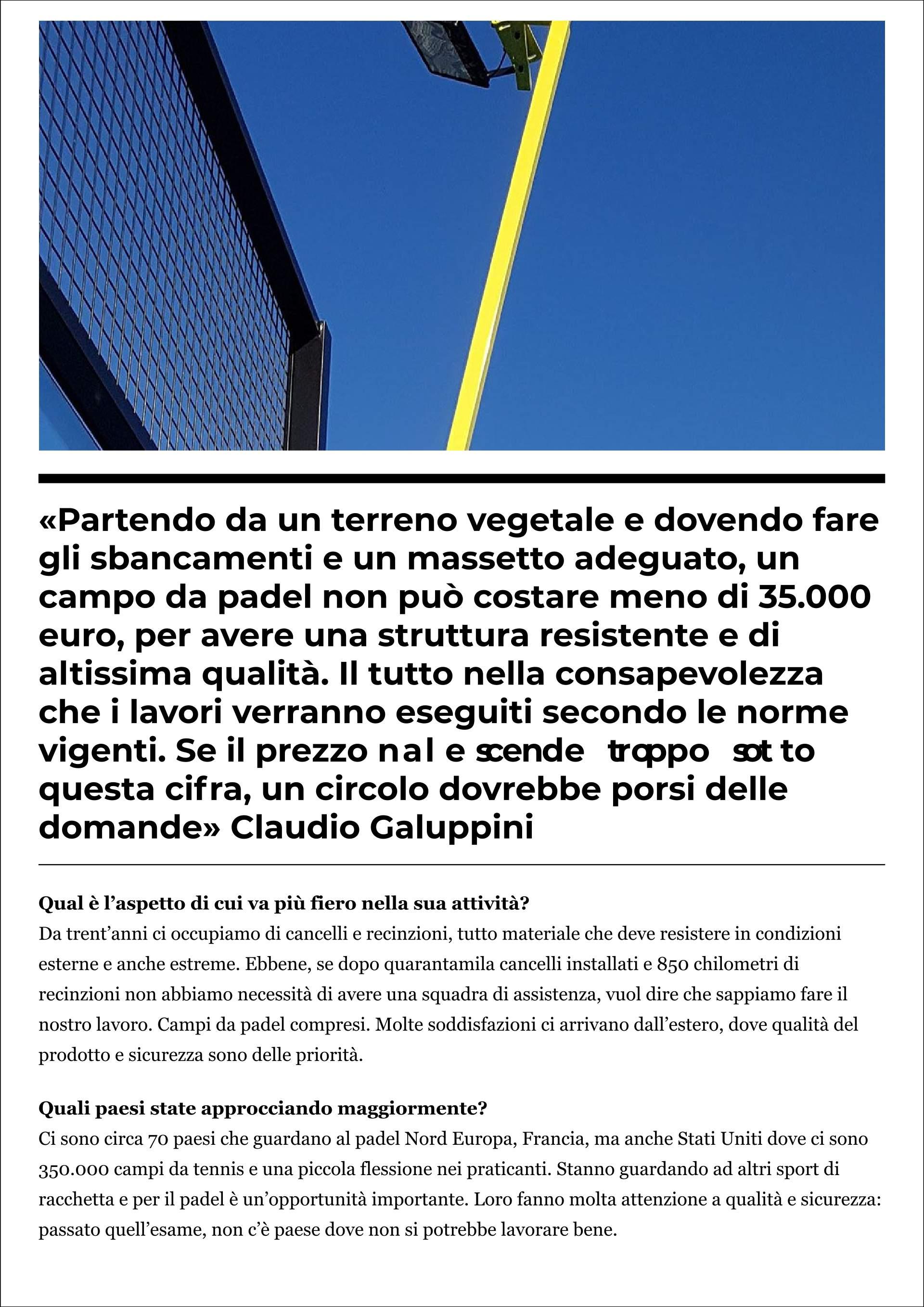 The Leader: Italian Padel (Padel Magazine - 5 novembre 2019) - 5